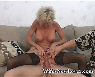 Elder statesman milf satisfied by young sweetheart