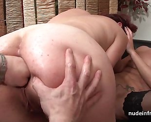 Ffm french milfs pain in the neck screwed added to love tunnels left side screwed in threeway