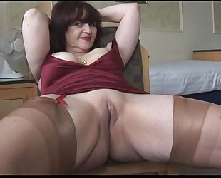 Big tits of age panty dissemble and striptease