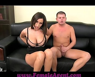 Femaleagent chubby boobed milf results just about impervious restraints of cum