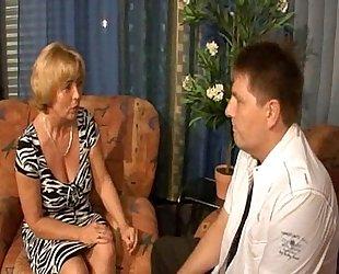 German jocular mater - lassie - mutti und sohn