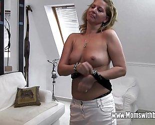 Horny of age stepmom bonks little one adulterated masturbating