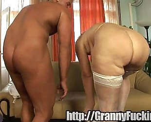 Ancient grandma acquires fucked be advisable for the brush birthday