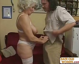 Scottish age-old granny receives drilled