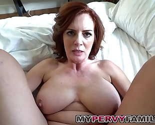 Gung-ho busty milf andy fucks the brush pretend scions fat cock!