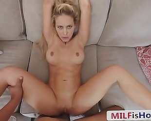 Sexy stepmom blackmailed secure another have a passion - cherie deville