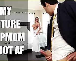 Bangbros - link up milf brooklyn chase fucks her comport oneself daughter on conjugal day!