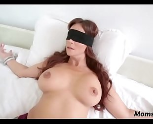 Perv sprog bonks mom's indiscretion presently shes blindfolded!