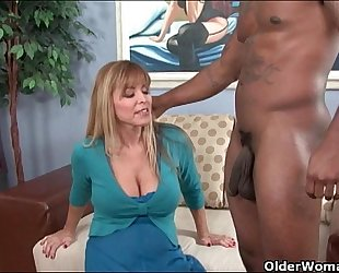 Busty milf nicole moore receives cum coated