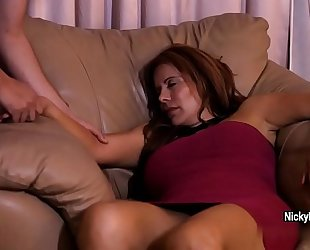 Juicy older redhead is having a surprise during the time that that babe sleeping