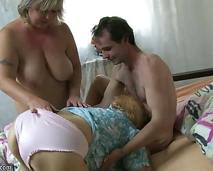 Very old overweight granny fucking with juvenile man oldnanny