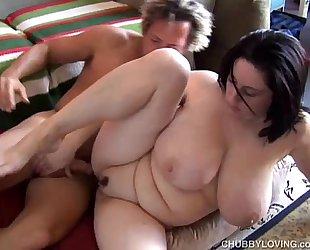 Beautiful breasty bbw dark brown is a very sexy fuck