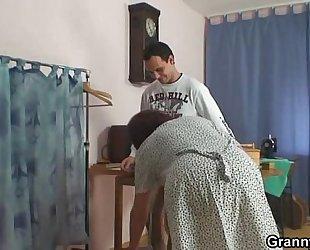A customer bangs old sewing