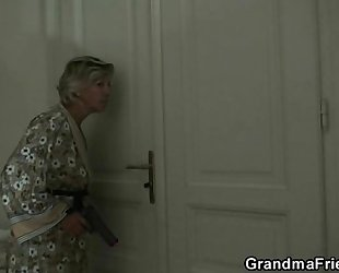 Mature white wife is slammed by 2 robbers