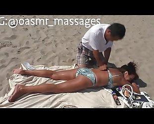 Mature Russian Full Body Beach Massage