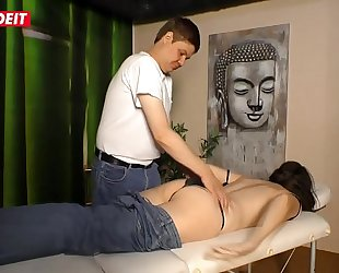 German Mature Wife gets Fucked by the Masseur