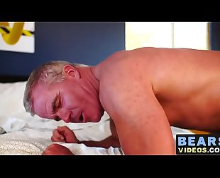 Mature deviant asshole piledriven roughly by bear raw cock