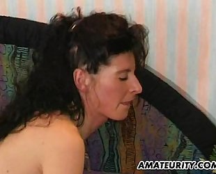 Amateur milf anal act with facial jizz flow