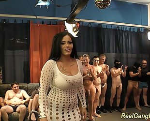 Busty ashley cum in real team fuck