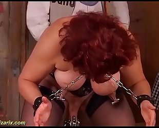 busty german mom enjoys a extreme pussy torture