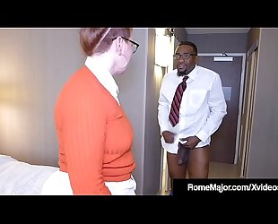 Black Cock Rome Major - Nerdy Anal with Ginger Reigh!