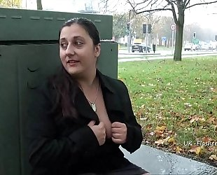 Busty flashing kimberleys bbw public nudity and nasty exhibitionism of chunky