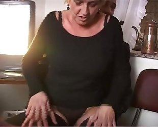 Nice grandmother sucks cock