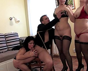 Three housewives sharing a chap