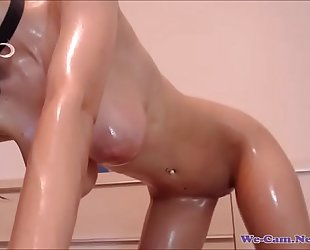 Sexy busty boobs brunette live wet body chat
