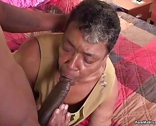 Ebony grandma can not live out of large dark ding-dong