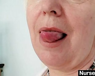Big milk sacks old BBC wench in uniform fingers unshaved dirty cleft