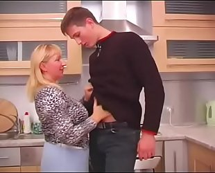 busty russian mature with young scrounger
