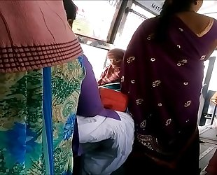 Heavy Yon Aunty regarding bus more visit indianvoyeur.ml