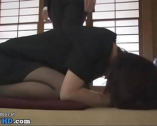 Japanese single Milf hardcore throng love in the matter of pantyhose