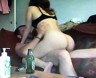 My shy young milf wife working exceeding some dick riding skills homemade