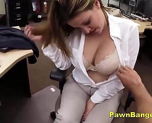 Busty slutty wife trades with her pantoons and love tunnel for money