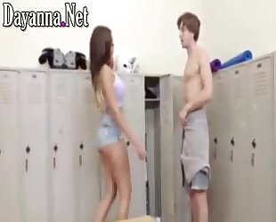 In the school bathroom fucking me unfaithful girlfriend busty young teacher moaning in four deliciou