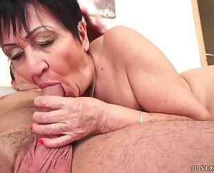Cockhungry grandma drilled hard