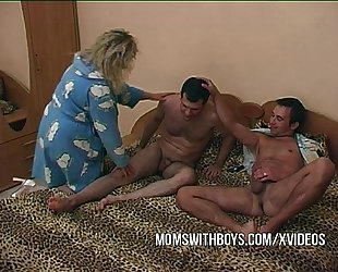 Stepmom fucking 2 youthful rods
