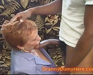 School teacher granny gets drilled