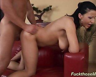 Busty mama enjoys a wild titfuck