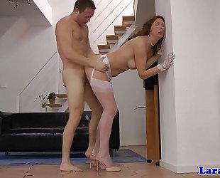 Pulled juvenile dude drills posh euro cougar