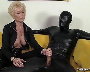 Dominant granny dominates her thrall