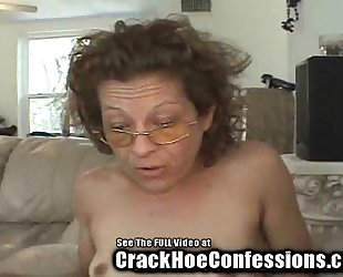Skinny granny crack floozy sucks my balls