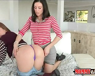 Sexy aged stepmom kendra craving wicked three-some session