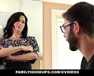 Familyhookups - sexy milf teaches stepson how to fuck