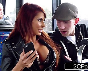 Steamy ffm three-some on a journey bus in london - jasmine jae, madison ivy