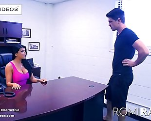 Romi rain the breasty secretary in the office is a excited whore!