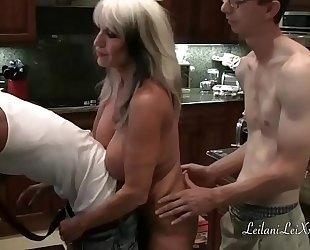 Kitchen shenanigans with milfs and bbc