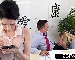 Busty cougar boss ryan conner copulates her employee